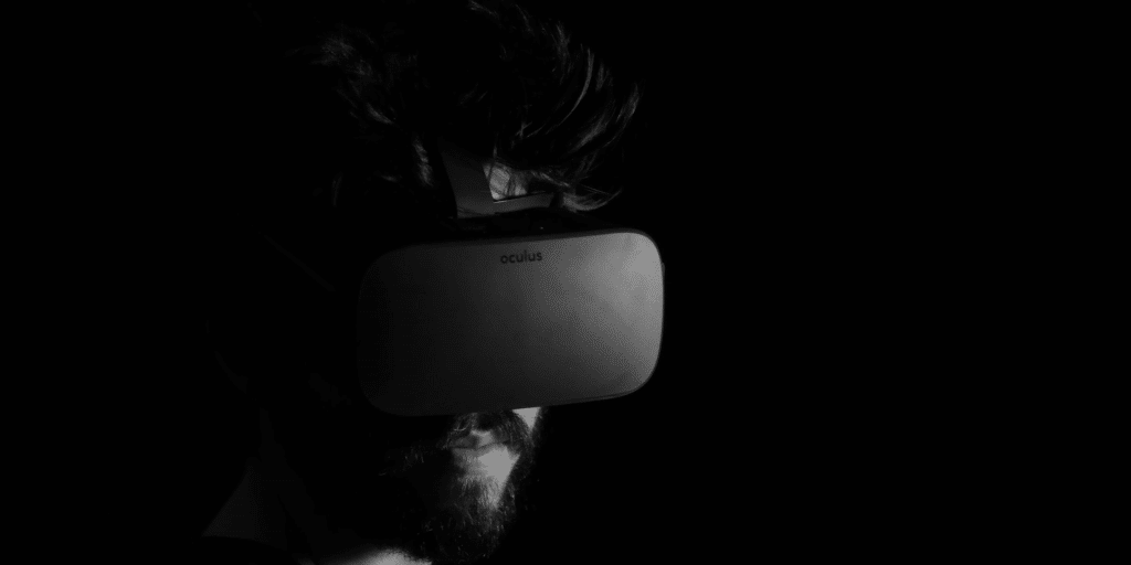 A virtual reality (VR) headset by Oculus. Credit: Lux Interactions