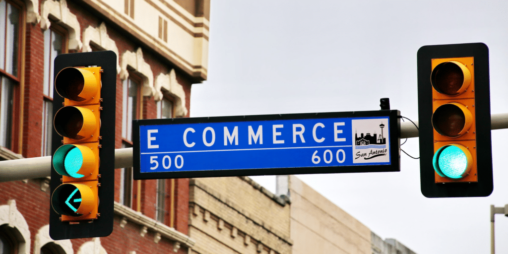 E Commerce. A street in San Antonio and an effective channel in digital marketing. Credit: Mark Konig.