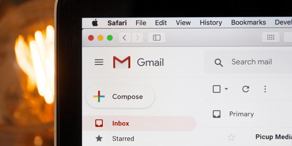 An example of gmail, Google's email platform. Credit: Stephen Phillips.