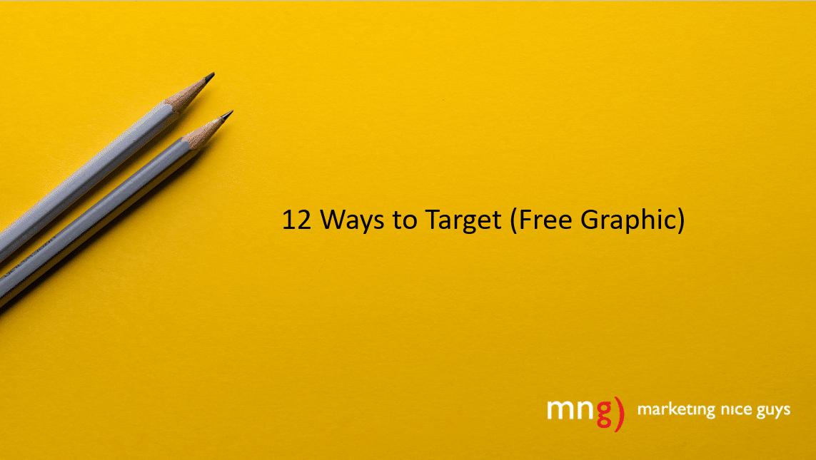A graphic explaining 12 ways to target customers. Credit: Joanna Kosinska.
