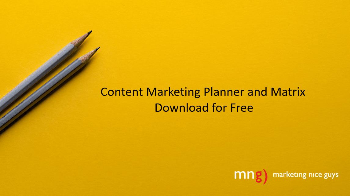 Content Marketing Planner and Matrix. Credit: Joanna Koskinska