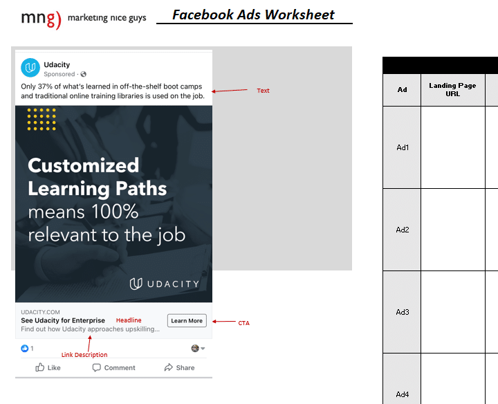 An image of our Facebook Ads Builder tool