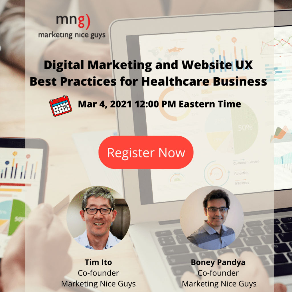 Our March 4th webinar will focus on UX best practices for websites and other digital marketing strategies for healthcare businesses.