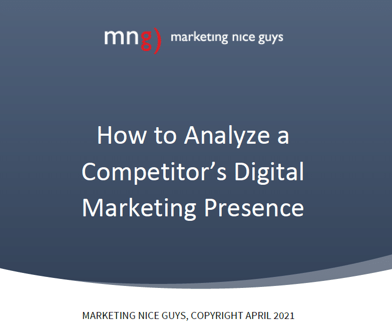 The cover image of our report on How to Analyze a Competitor's Digital Marketing Presence