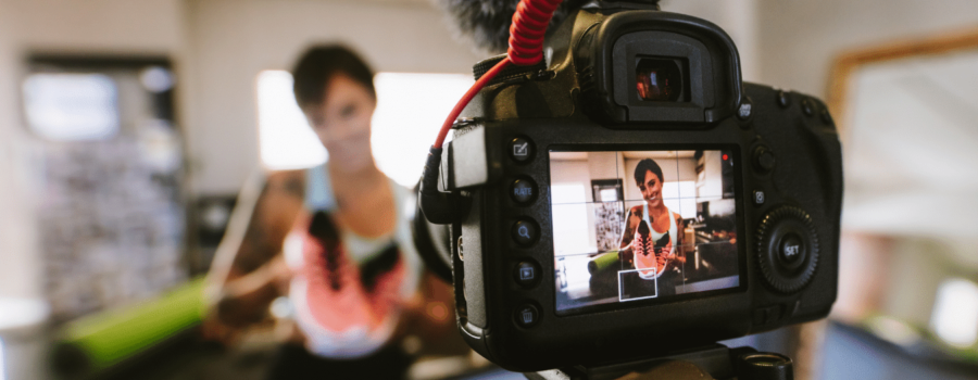 A crew films a video marketing segment. Learn our 4 tips to getting up to speed in video marketing quickly.