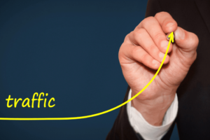 An image depicting growing traffic to your website. At Marketing Nice Guys, we provide 5 steps to improving your website traffic.